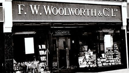 WOOLWORTH'S: Peggotty cannot recall either its Gorleston town centre store (pictured here just befor