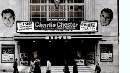 STILL LAUGHING IN CIVVY STREET: wartime radio favourite Cheerful Charlie Chester headed the bill at