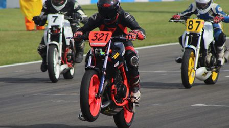 Thetford racer in Thundersport GB action at Donington Park. Picture: Marcus Leeder