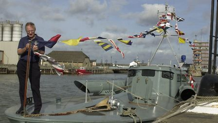 WELCOME VISITOR: MTB102 on Yarmouth's South Quay for the 2004 maritime festival.Picture: MERCURY LIB
