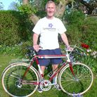 STILL PEDALLING: David Cooke on his high-mileage Claud Butler racing cycle.Picture: SUBMITTED
