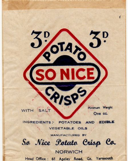 MOUTH-WATERING...: A pre-war potato crisp bag resembling Smith's but in fact So Nice. Picture: SUBMI