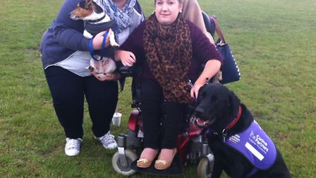 The Canine Partners dog show and fun day in Brandon. Daisy Claxton (left) with Chloe Bellotti and he