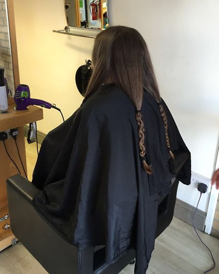 Effie Cole, nine, from Bardwell, has donated almost 10 inches of her hair to the Little Princess Tru