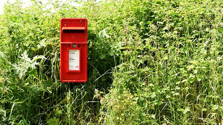 A rural postbox on the edge of a Norfolk village.Picture: James Bass