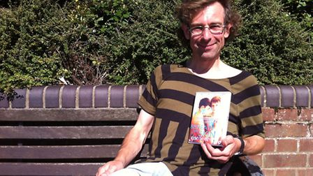 Richard Harrison, with a DVD copy of Beneath the Skin, which he helped fund