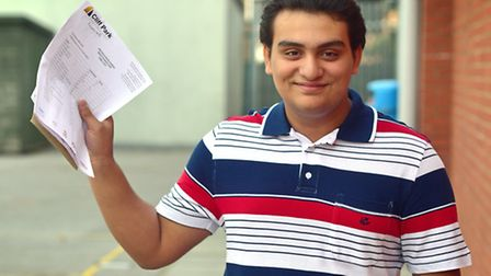 Students at Cliff Park Ormiston Academy collect their GCSE results. Abdu-Allah Awad.Picture: ANTONY