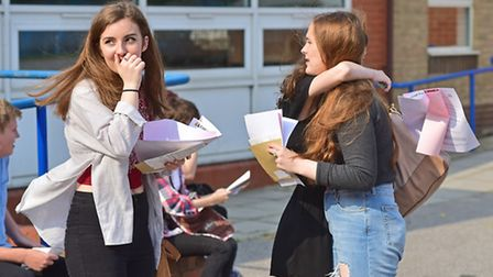 Students at Cliff Park Ormiston Academy collect their GCSE results.Picture: ANTONY KELLY