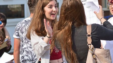 Students at Cliff Park Ormiston Academy collect their GCSE results. Picture: ANTONY KELLY