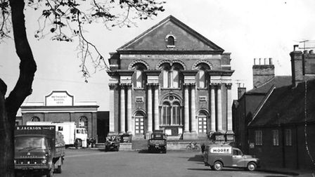 War and Peace:The Methodist Temple on Priory Plain in Great Yarmouth in 1963, the year it closed. It