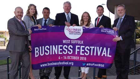 Launch of the West Suffolk Business Festival 2016. Phil Stittle, director of businesses development