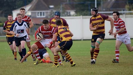 Action from Thetford RUFC's 64-7 win at Ipswich YM.