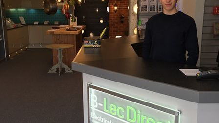 Oliver Bryenton who has just opened up his own electrical and lighting business at the age of 21.