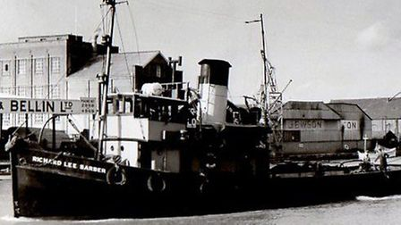 The Yarmouth port tug Richard Lee Barber helped in the MTB and Caribia dramas. Picture: MERCURY LIB