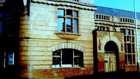 Gorleston's distinctive library, built in the town centre in the early 1900s with £2000 gift from ph