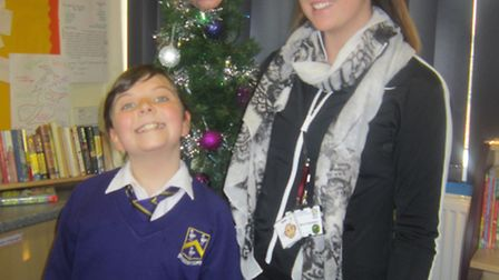 Children at Edward Worlledge Primary School are enjoying the run-up to Christmas and instead of a fa