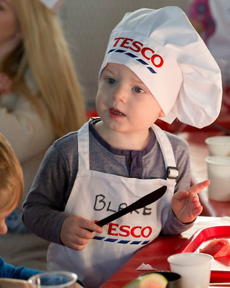 Blake aged 2, taking part in the healthy eating workshop at The Priory Centre in Great Yarmouth
