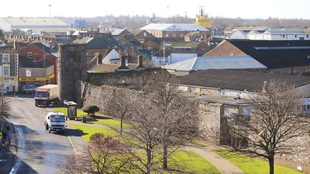 The South East tower on the Great Yarmouth town wall is being transformed into accommodation. The vi