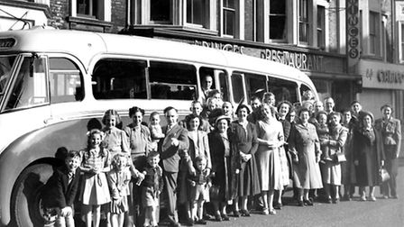 CAPTIONS The Scott family of hotel and guest house owners ready to board a Seagull coach in Regent R