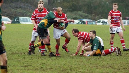 Thetford's Cory Lewis in action. Picture: SUPPLIED