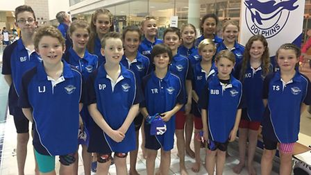 The Thetford Dophins swimmers that swam in the Copeman Cup final. Picture: STEVE KING