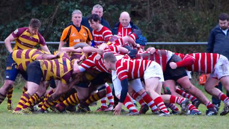 Action from Thetford's big win over Ipswich YM.