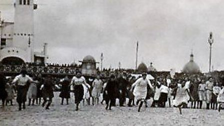 Fun on the sands...but in the early years of the 20th century two young women were murdered on Great