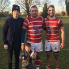 Father and son Keith and Kain Rix starred for Thetford in their win over Wisbech. Picture: PAULA GRO