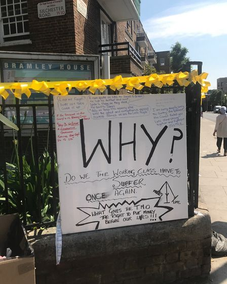 Messages left at the scene
