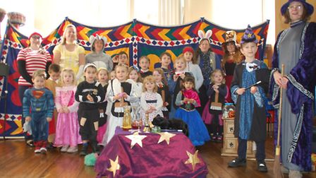 Pupils at Thetford Grammar School dressed up as characters from The Sorcerer's Apprentice. Photo fro