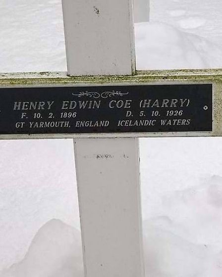 The Iceland cross marking a Great Yarmouth man's death