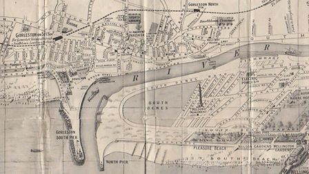 Part of the pictorial plan of Great Yarmouth and Gorleston, published before the war. Map: Jarrold &