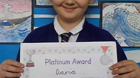 Top marks in maths challenge for Daria