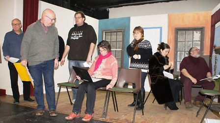 Wortham and Redgrave Theatrical Society (WARTS) preparing for its next production, the Ghost Train.