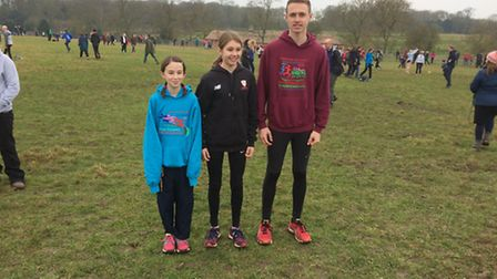 Thetford AC representatives Abigail Clouston, Jessica Norkett and Aiden Try. Picture: Matt Try