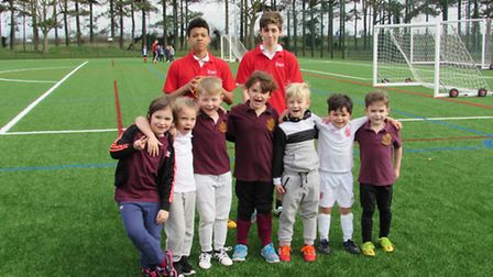 Year 1 children from North Denes Primary school enjoyed playing in their first ever football tournam