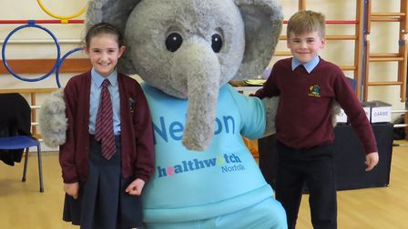 The Health Watch Norfolk team visited the children at Ludham Primary School and NurseryPicture: Ludh