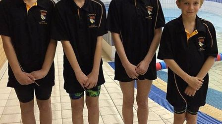 Thetford Dolphins Swimming Club at the Three Counties Gala.
