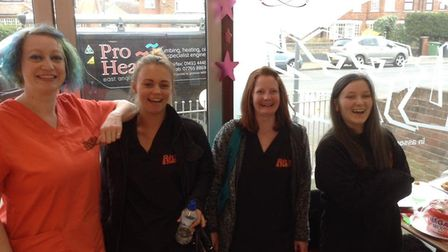 Kim Cole and the staff of Ruffs welcome visitors to their open day.