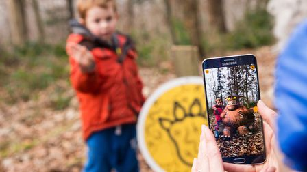 The Gruffalo Spotter app will bring to life characters from The Gruffalo books at High Lodge, Thetfo
