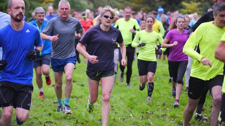 Runners in action at the Thetford Park Run. Picture: Ian Burt