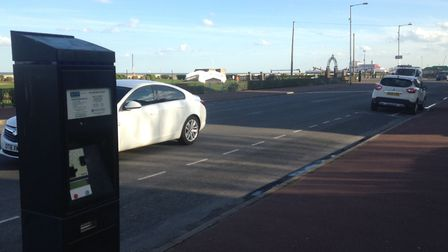 Pay and display parking in Great Yarmouth.
