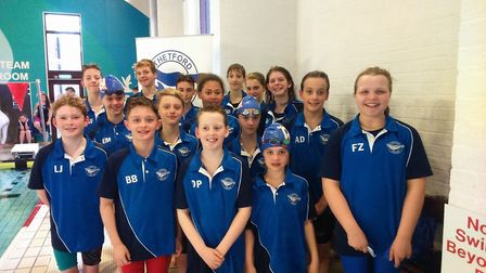 Thetford Dolphins SC youngsters at the West Norfolk Open. Picture: Steve King