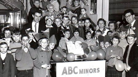 Minors to Majors? Young film fans at an ABC Minors anniversary gathering at the Regent Cinema in 196