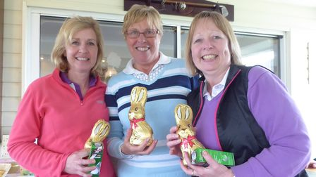 Rosie Sutterby in the centre with Sandy McCormack on the left and Jane Playford on the right. Pictur