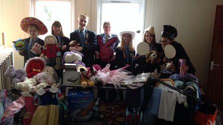 Students at Flegg High School have collected unwanted items to see at a school jumble sale on Saturd