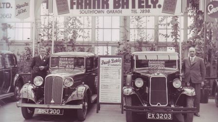 The photographs of a Palmers cart and the Frank Bately garage stand.Pictures supplied by John Burrow