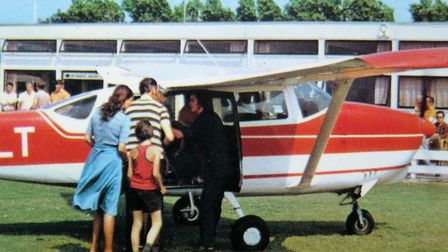 Passengers boarding a Cessna for a pleasure flight at the North Denes airfield in 1979. Picture: PET