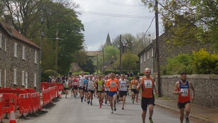 Action from the Breckland 10km race, organised by Thetford Athletics Club. Picture: Matthew Try