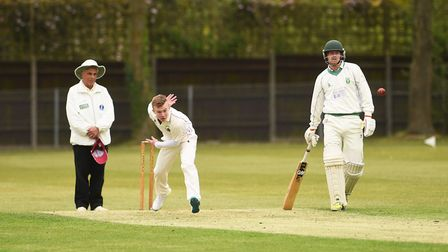 James Baulch took a couple of wickets for Thetford on Saturday. Picture: Ian Burt
